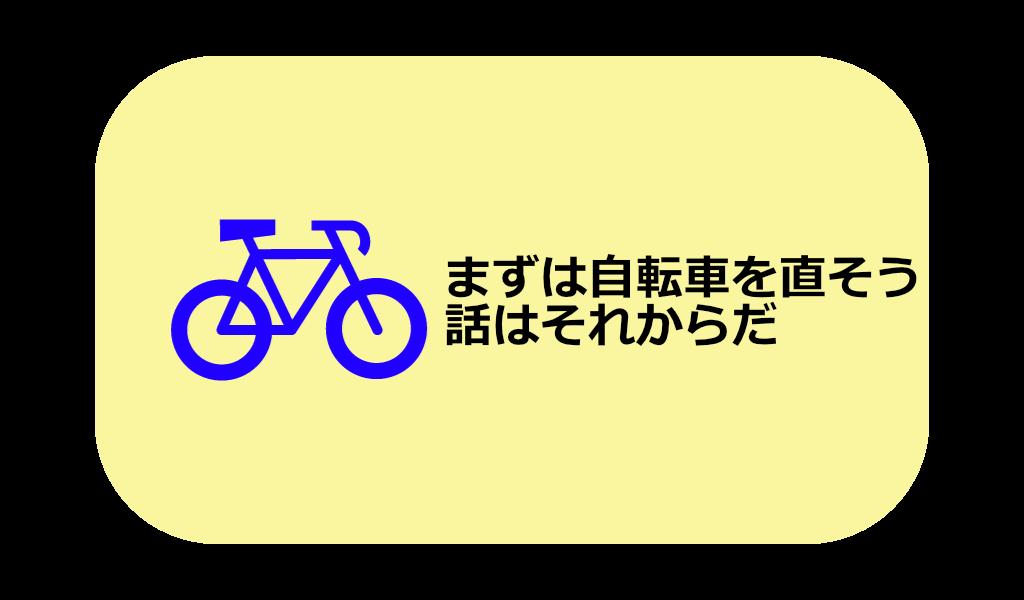 まずは自転車を直そう